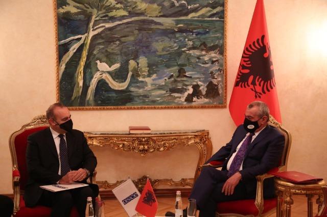 Kryetari i Kuvendit, Ruçi, takon Kryetarin e ri të Prezencës së OSBE-së në Shqipëri, Vincenzo Del Monaco: Prezenca e OSBE, partner i besueshëm për Shqipërinë