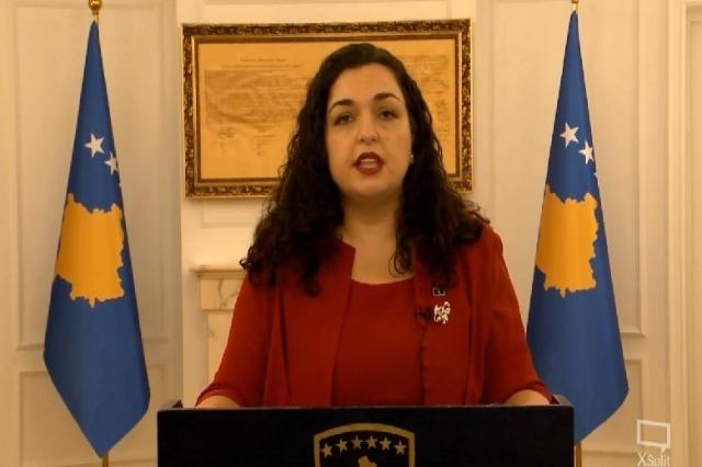Vjosa Osmani, mban fjalimin e parë si Presidente e Kosovës