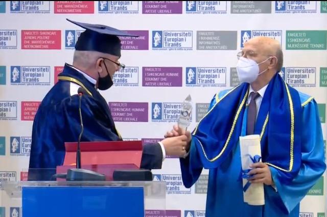 """Petrit Ruka nderohet me titullin """"Doctor Honoris Causa"""""""