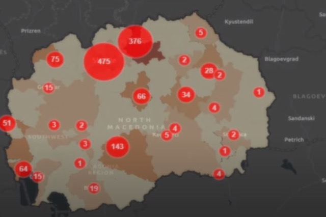 COVID-19 në Maqedoni/800 raste të reja, 20 persona humbën jetën