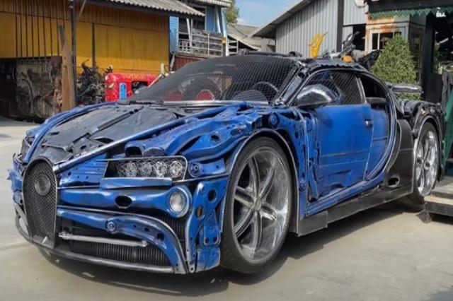 """Bugatti Chiron i bërë nga """"mbeturinat"""""""