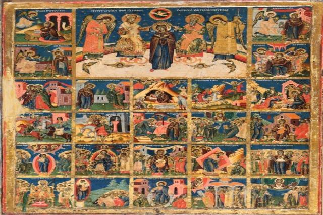 """""""Himni Akathist"""", ikona e rrallë që zbukuroi ikonostasin e kishës në Manastirin e Ardenicës"""