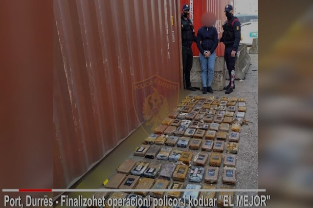 Shqipëri: Kapet sërish kokainë në portin e Durrësit