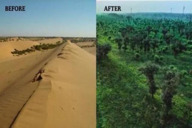Kinë, transformim i paimagjnueshëm i shkretëtirës Maousu