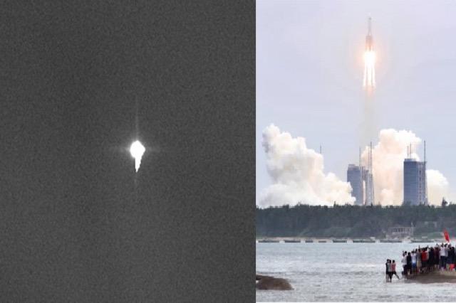 Imazhi i parë i raketës kineze në rënie të lirë drejt tokës/ Ende nuk dihet ku do të bjerë