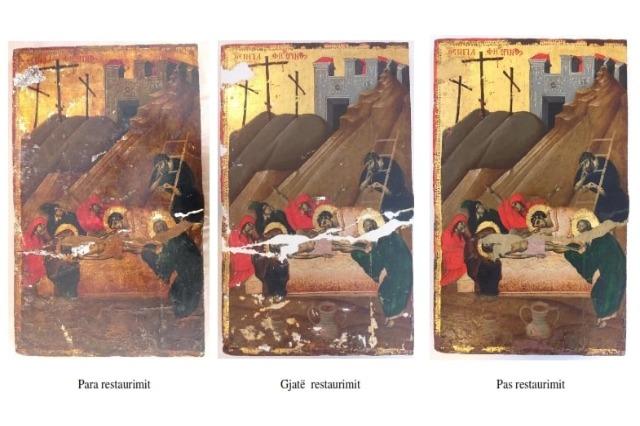 """""""Vajtimi i mbivarrshëm"""", restaurohet një ndër ikonat e rralla të piktorit David Selenica"""