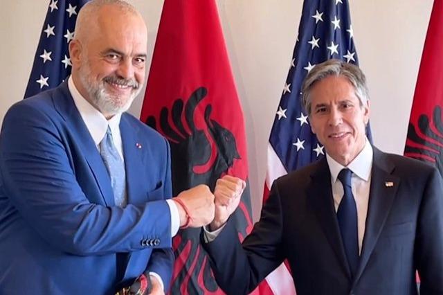 Kryeministri Rama takon sekretarin e Shtetit, Blinken: Krenari për Shqipërinë që të jetë krah SHBA-ve, përherë