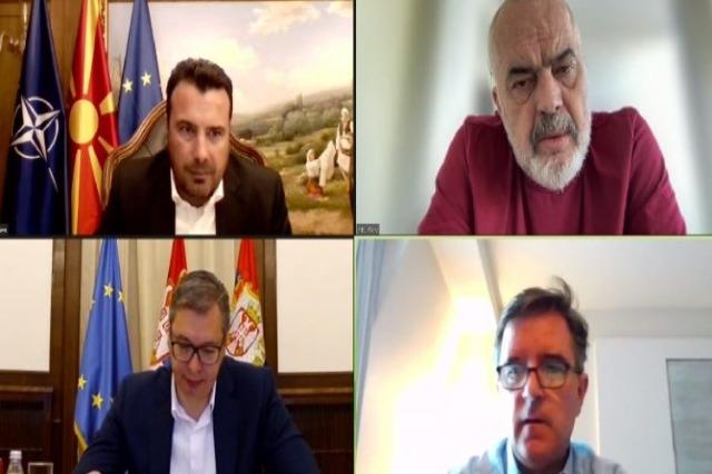"""""""Ky është Ballkani i ri, europian"""", Rama, Vuçiç dhe Zaev takim online"""