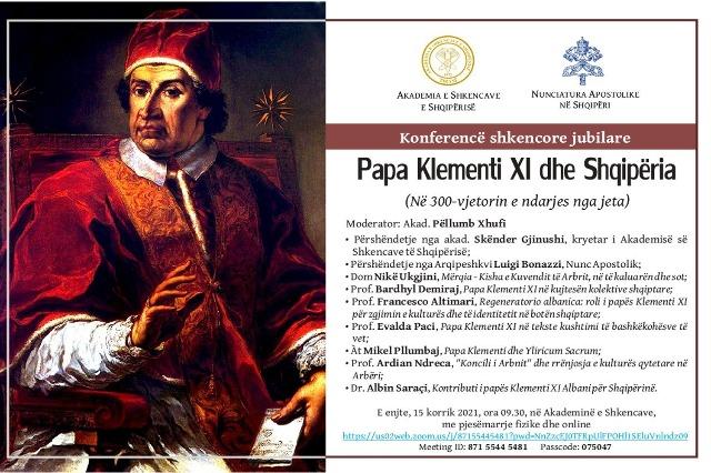 """Konferencën shkencore """"Papa Klementi XI dhe Shqipëria"""""""