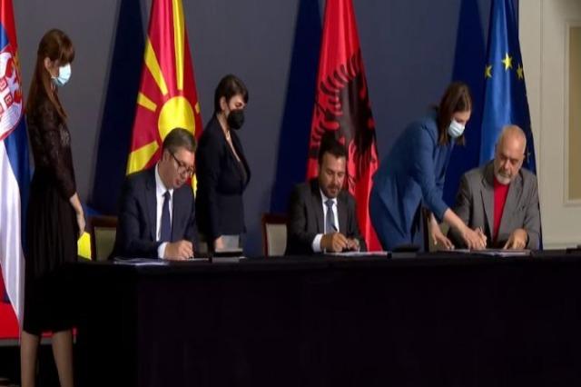 Shkup, nga lëvizja e lirë, tek import-eksportet, memorandumet e firmosur nga Rama, Vuçiç dhe Zaev