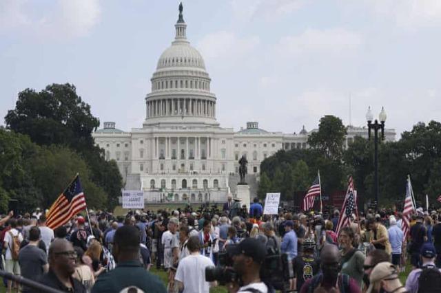 Numër i vogël protestuesish para Kapitolit mes masash të rrepta të sigurisë