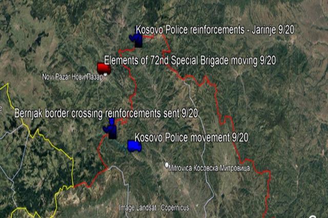 Ushtria serbe vendoset pranë kufirit me Kosovën