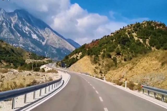 Rruga e Lumit të Vlorës, segmenti i ri nga Kuçi në Kotë,  spektakël i natyrës