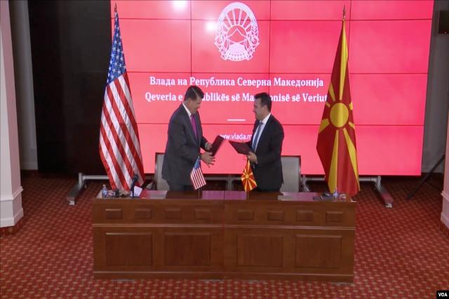 5G, SHBA nënshkruan në Shkup memorandumet me Maqedoninë e Veriut dhe Kosovën